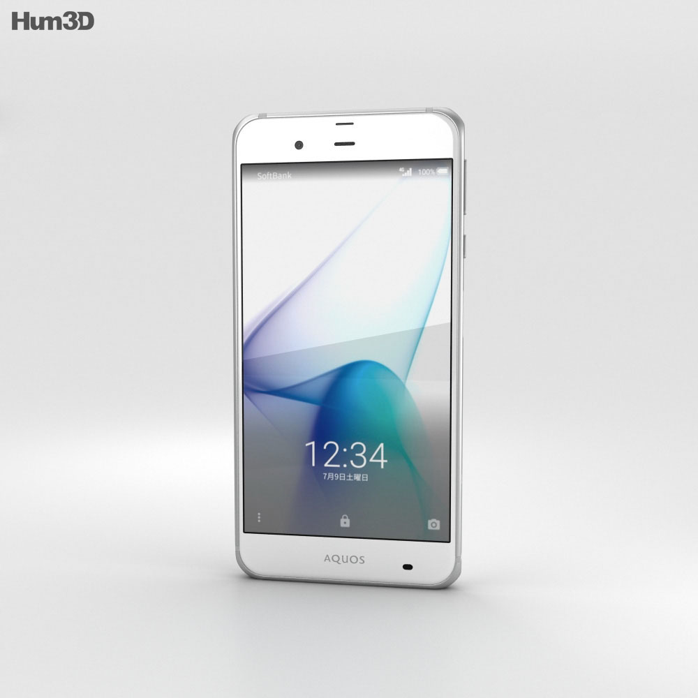 Sharp Aquos Xx3 White 3d model