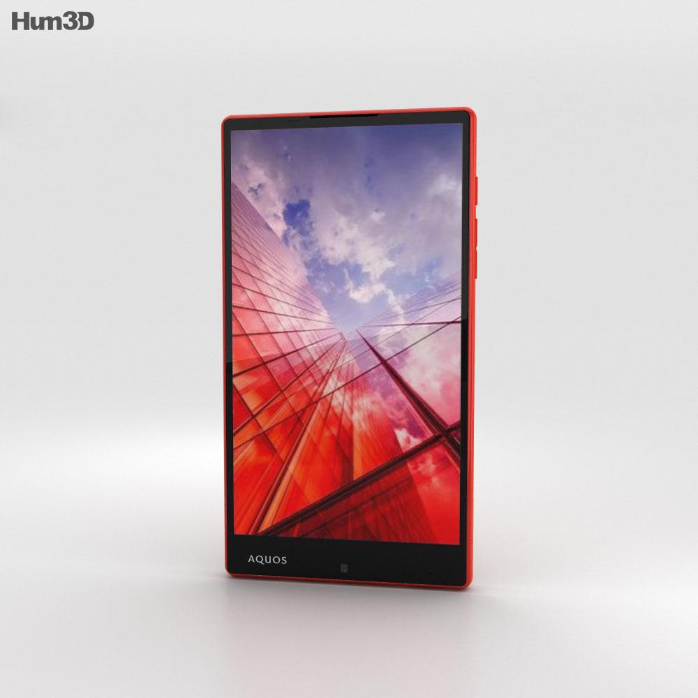 Sharp Aquos Xx Red 3d model