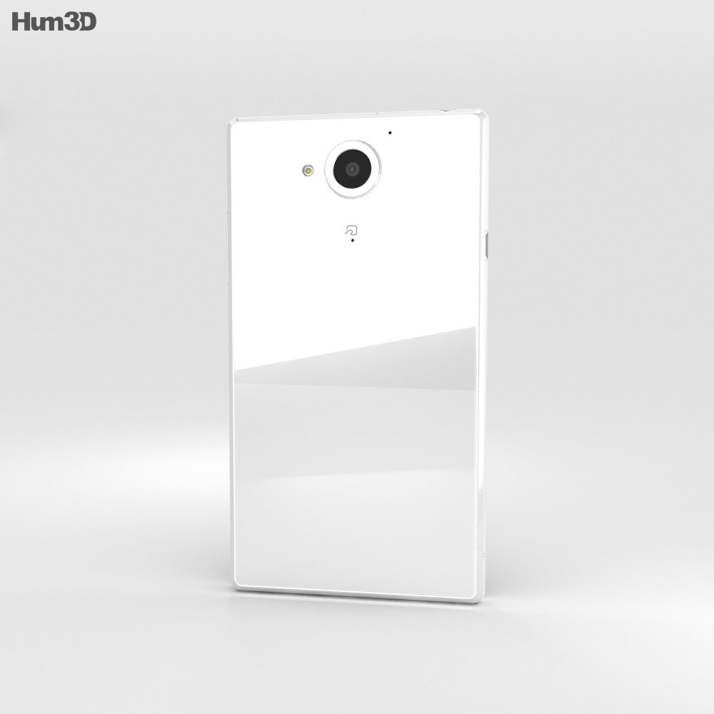 Sharp Aquos Xx White 3d model