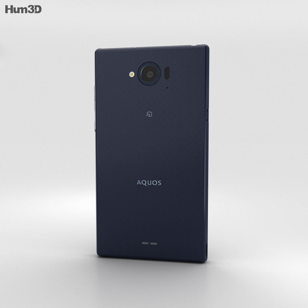 Sharp Aquos Zeta SH-01G Indigo 3d model