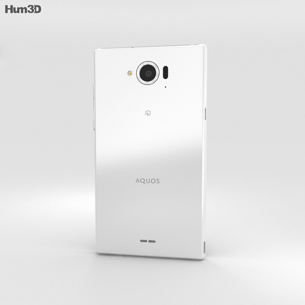 Sharp Aquos Zeta SH-01G White 3d model