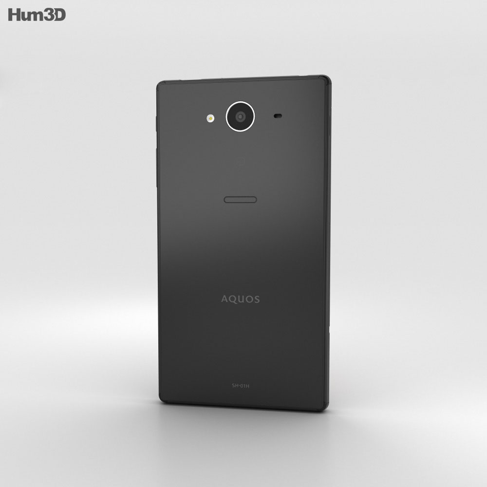 Sharp Aquos Zeta SH-01H Black 3d model
