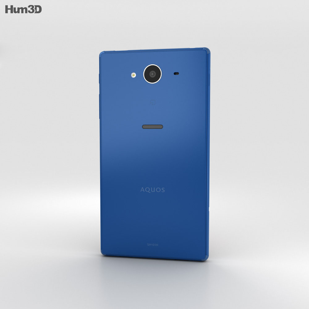 Sharp Aquos Zeta SH-01H Blue 3d model