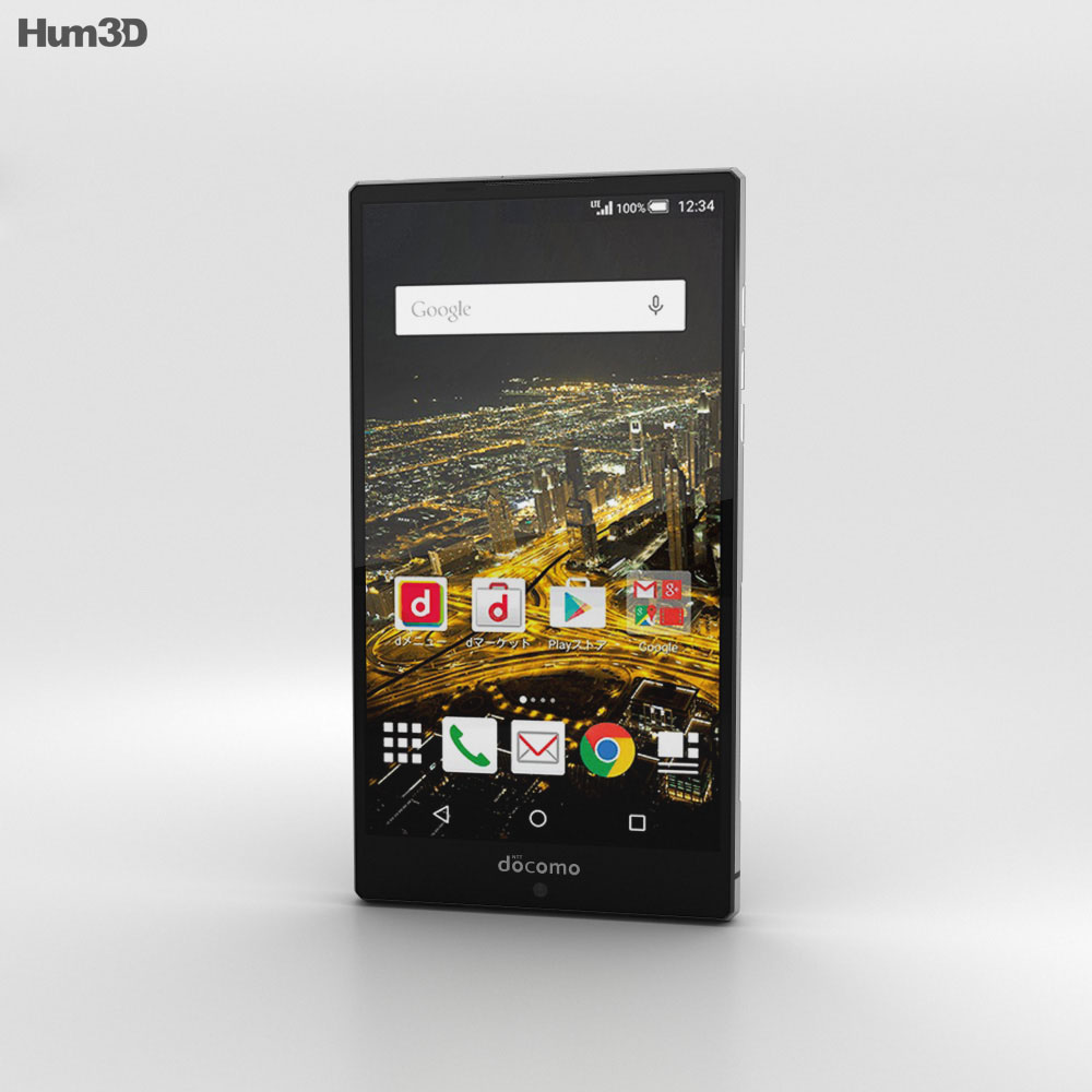 Sharp Aquos Zeta SH-03G Black 3d model
