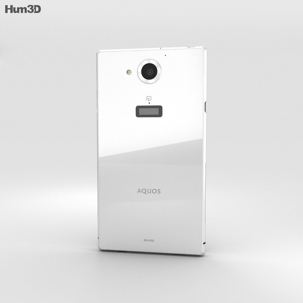 Sharp Aquos Zeta SH-03G White 3d model