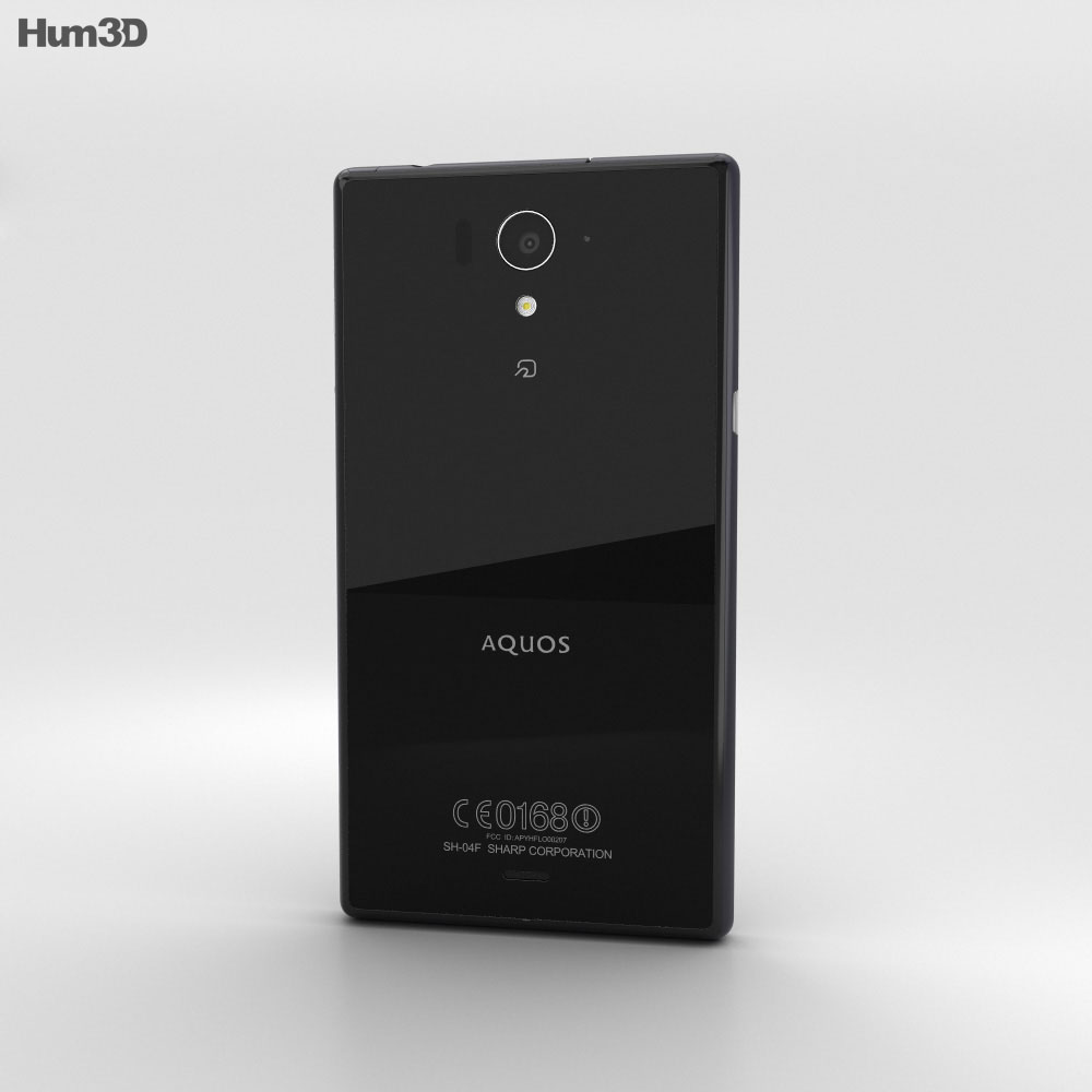 Sharp Aquos Zeta SH-04F Black 3d model