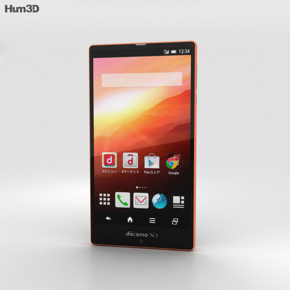 Sharp Aquos Zeta SH-04F Orange 3d model