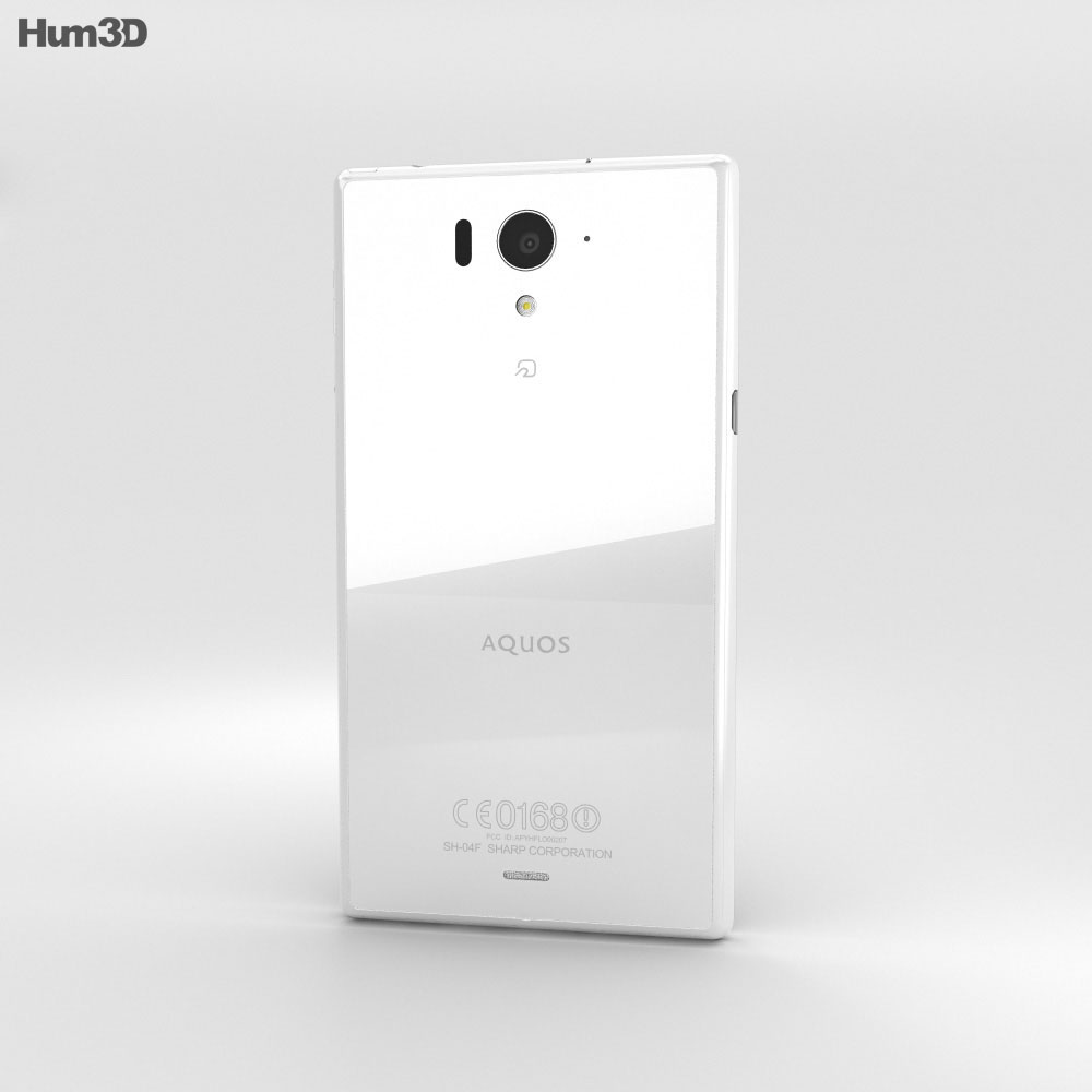 Sharp Aquos Zeta SH-04F White 3d model