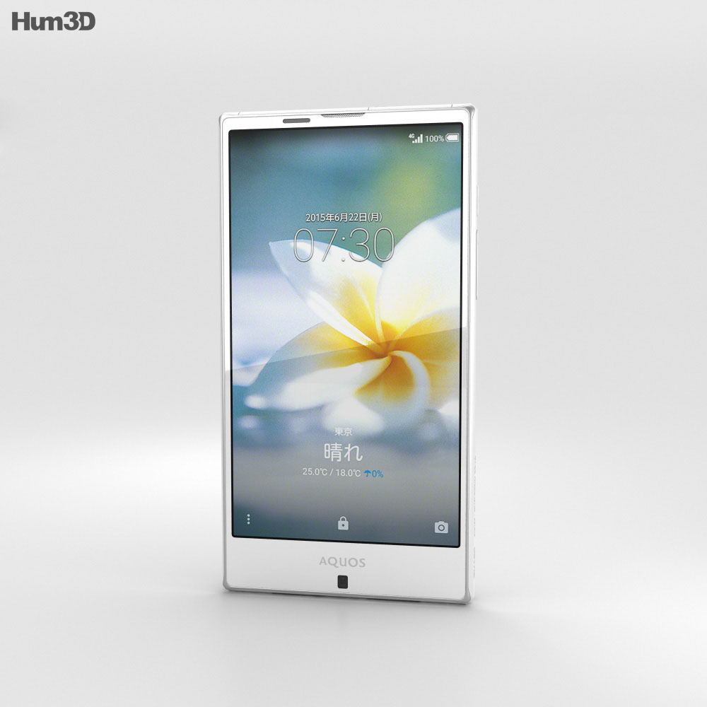 Sharp Aquos Serie SHV32 White 3d model