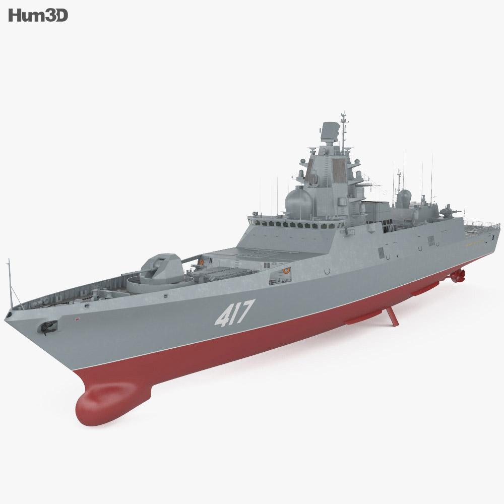 Admiral Gorshkov-class frigate 3d model