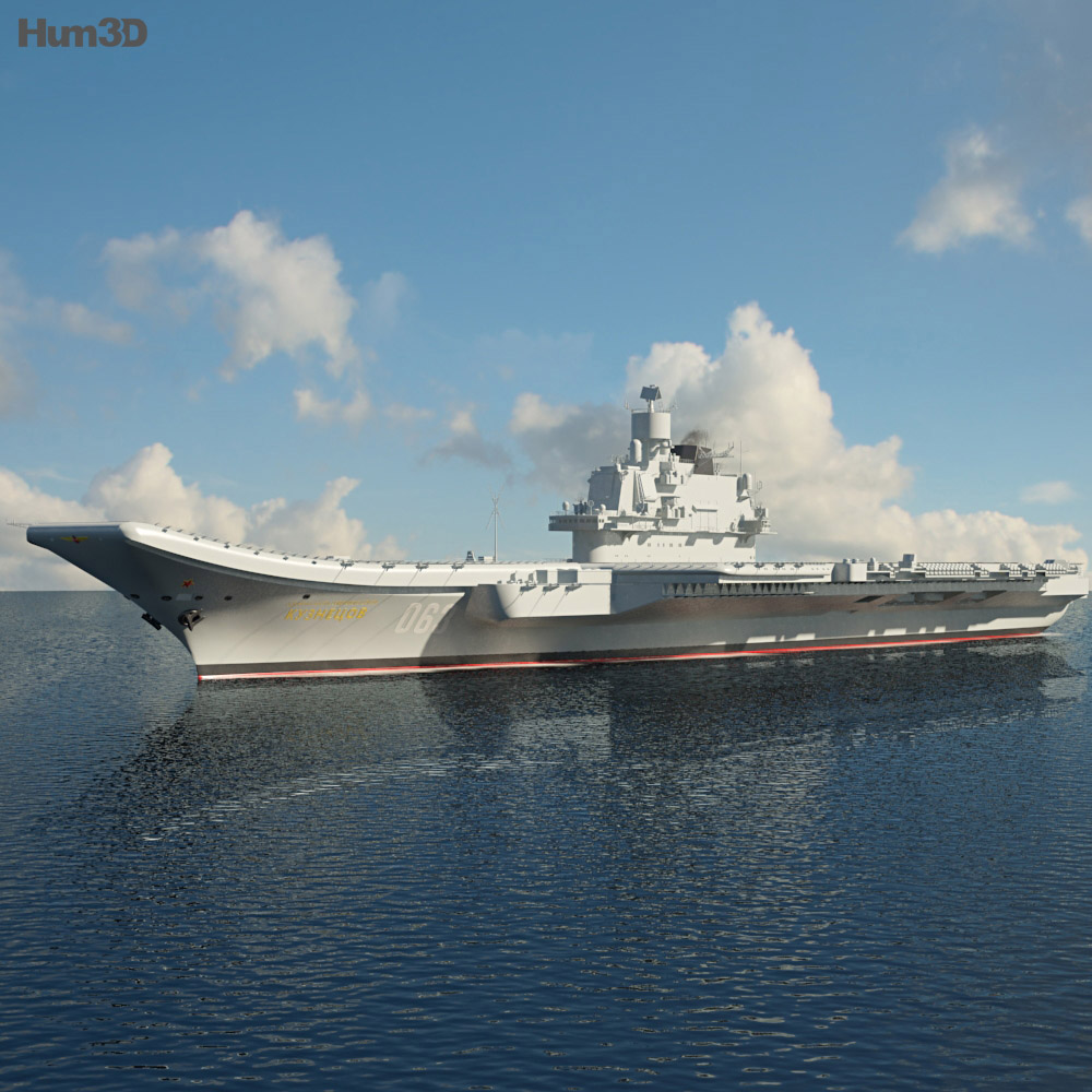 Admiral Kuznetsov aircraft carrier 3d model
