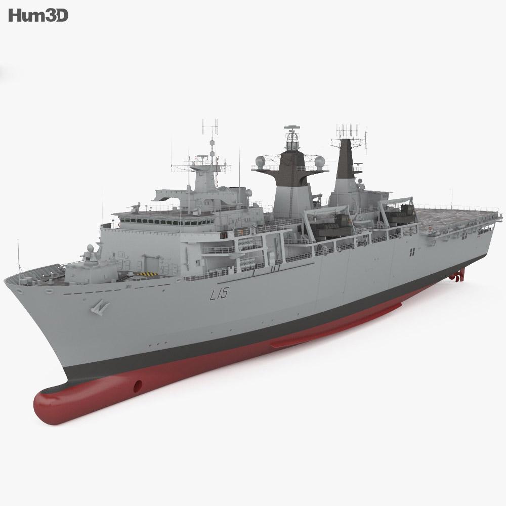 Albion-class landing platform dock 3d model