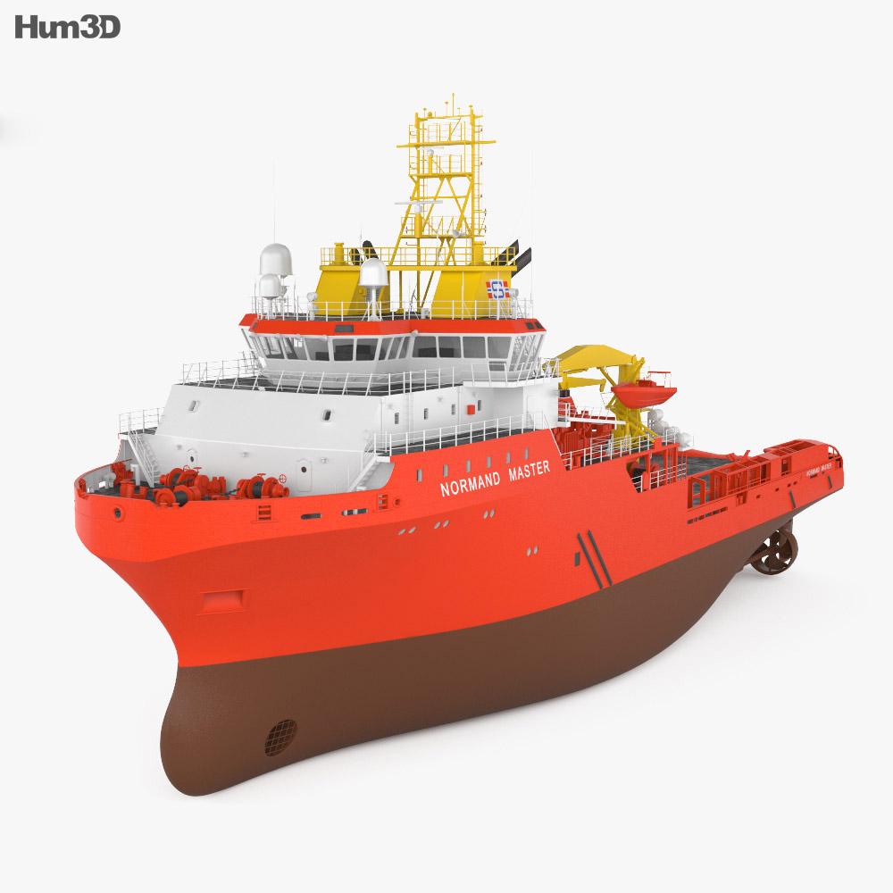 Anchor handling tug supply vessel 3d model
