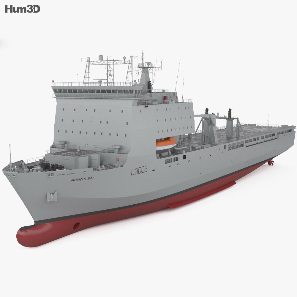 Bay-class landing ship 3d model