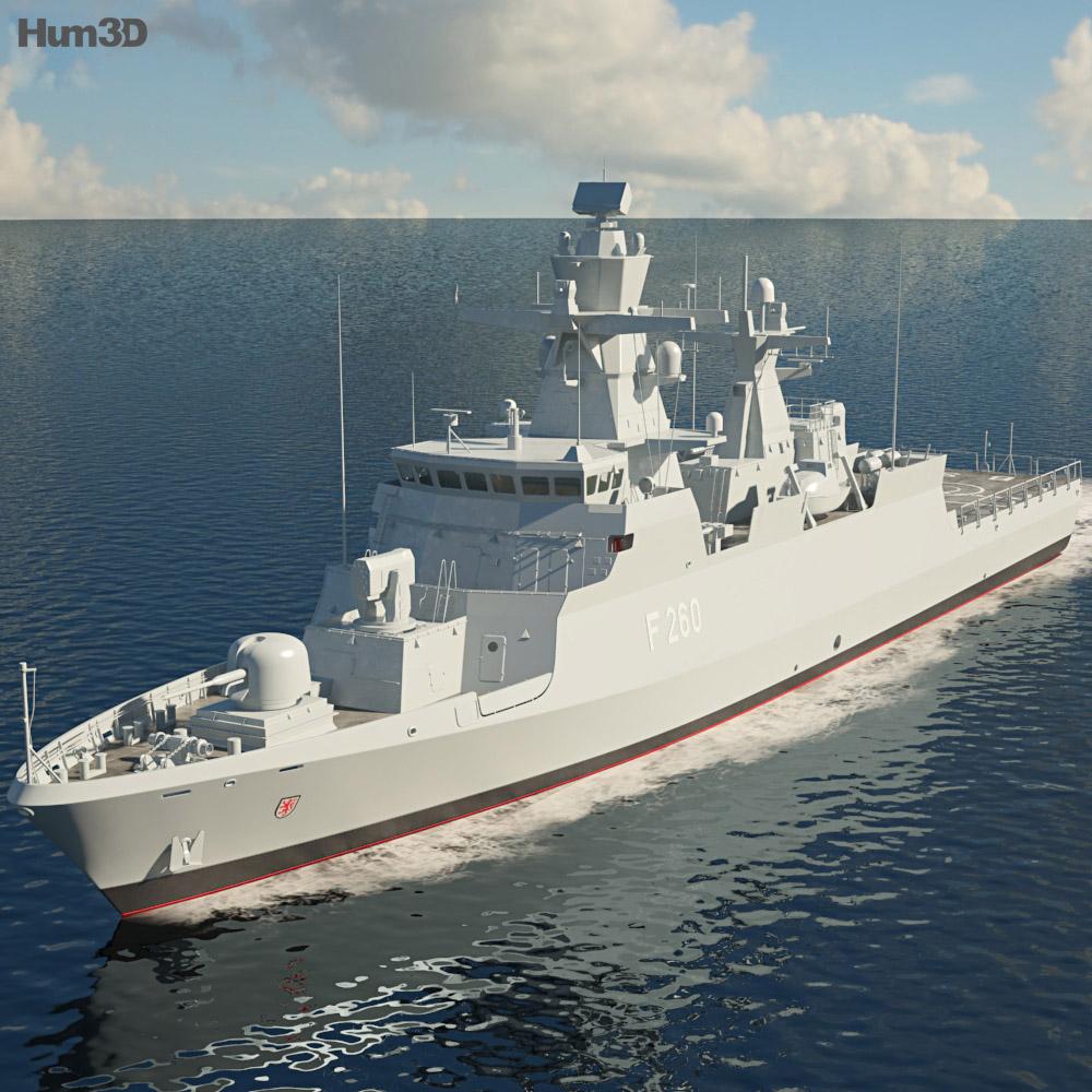 Braunschweig-class corvette 3D model - Ship on Hum3D