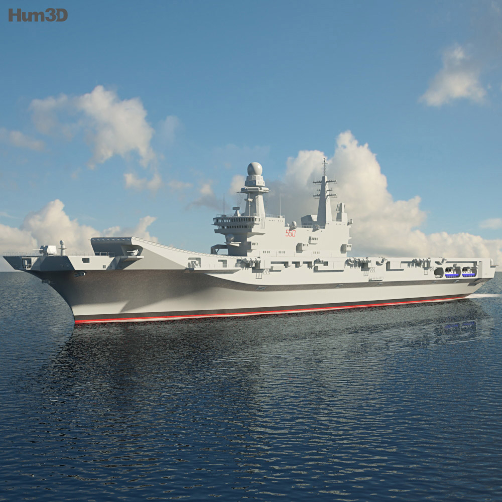 Cavour aircraft carrier 3d model