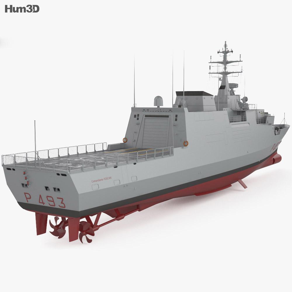 Comandanti-class patrol vessel 3d model