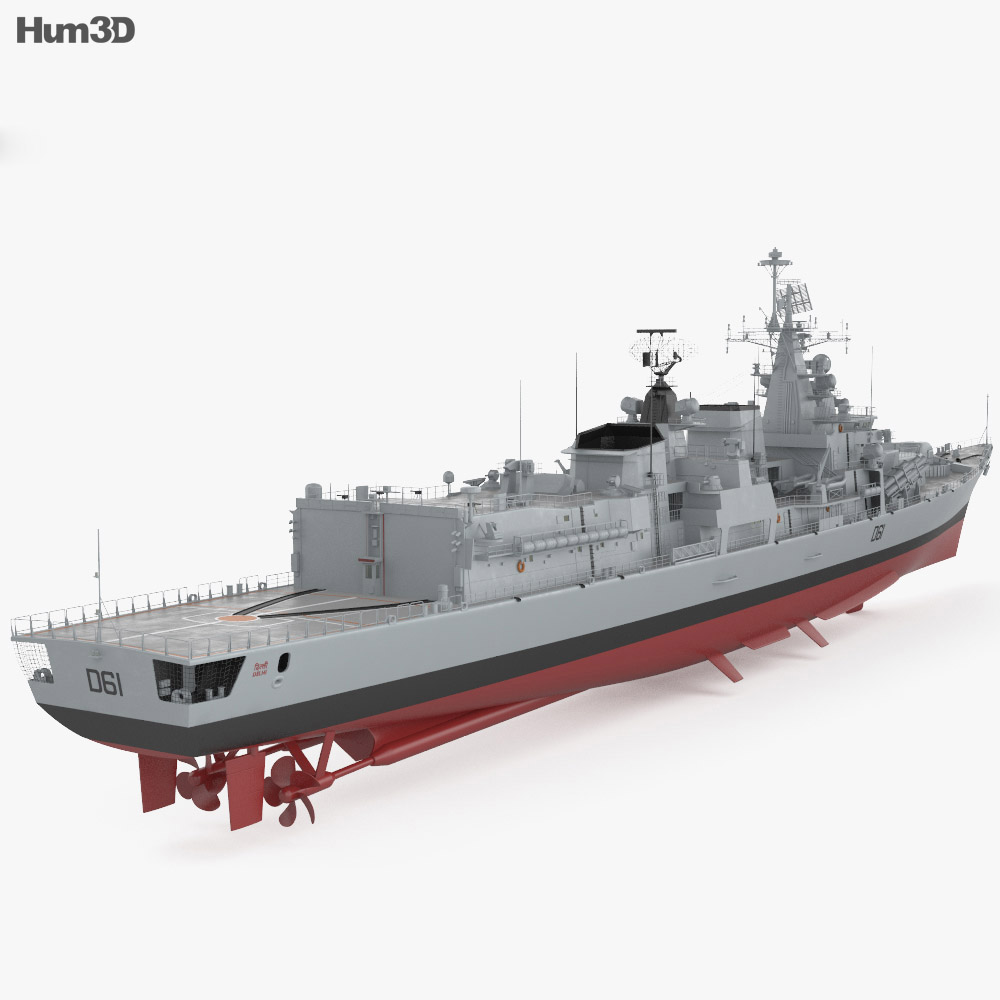 Delhi-class destroyer 3d model