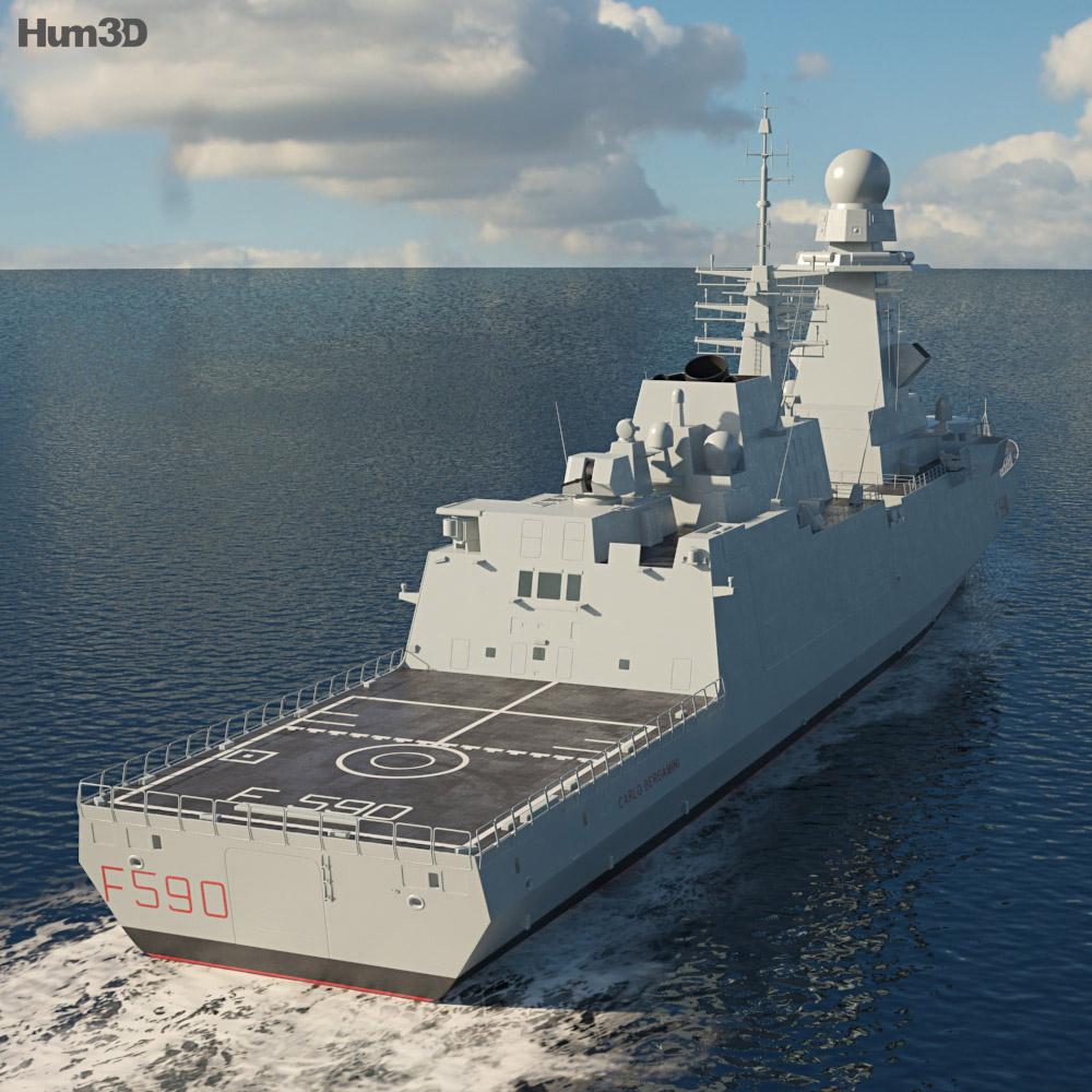 FREMM Frigate 3d model
