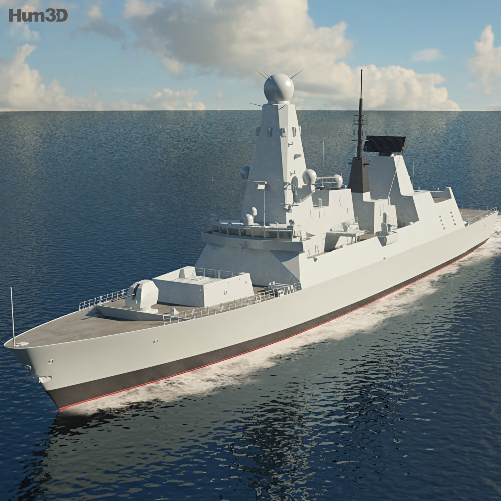 HMS Daring D32 3d model