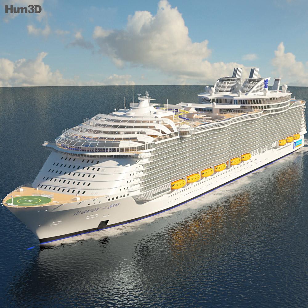 3D model of Harmony of the Seas cruise ship