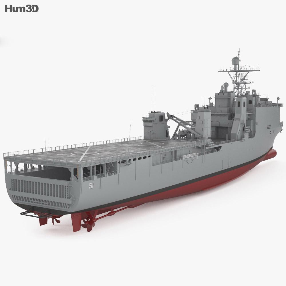 Harpers Ferry-class dock landing ship 3d model
