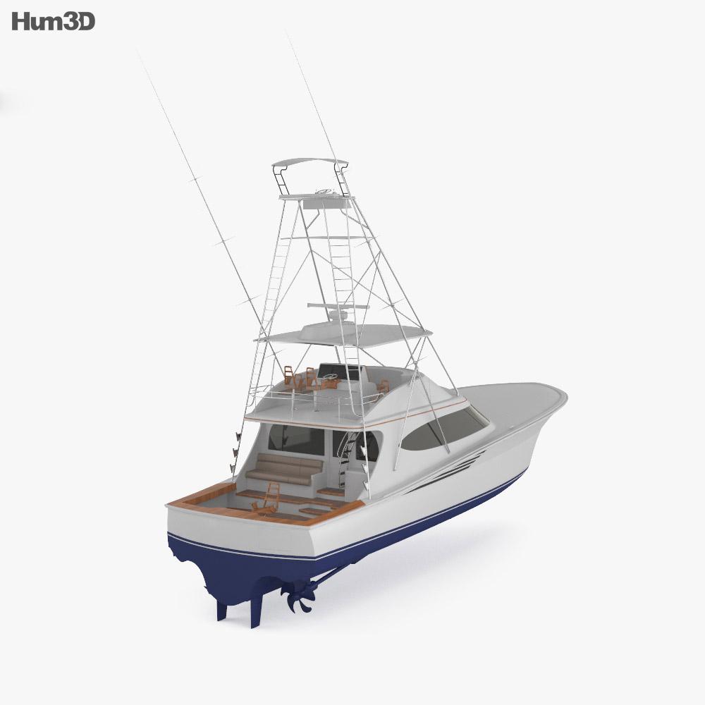 Hatteras GT65 Carolina Sportfishing Yacht 3d model