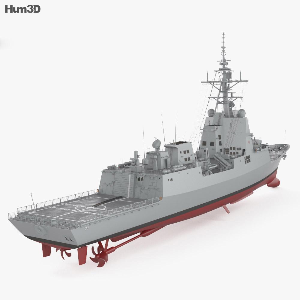 Hobart-class destroyer 3d model