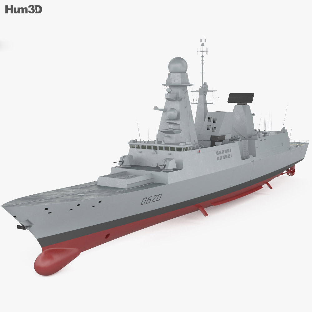 Horizon-class frigate 3d model