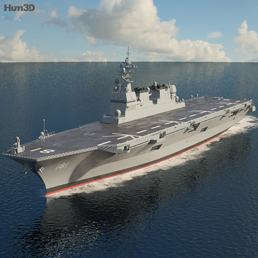 Hyuga Class Helicopter Destroyer 3d Model Ship On Hum3d