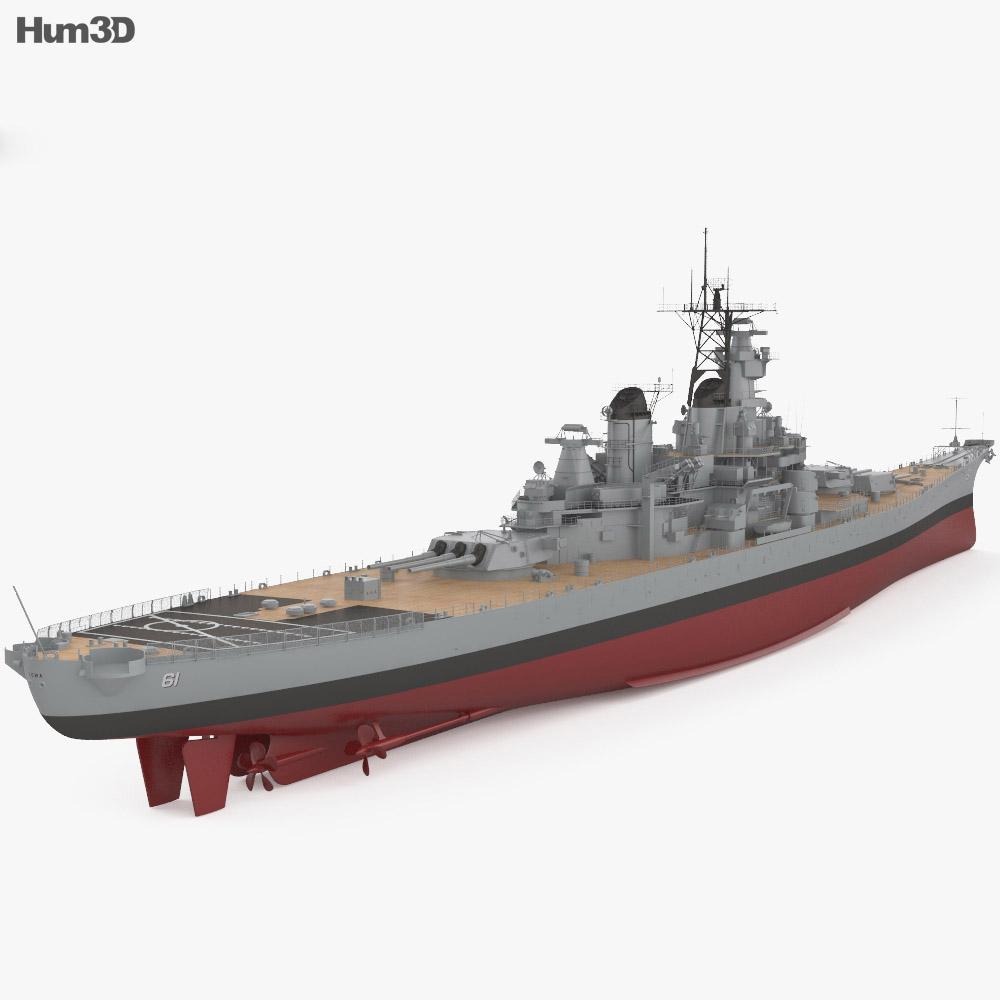 Iowa-class battleship 3d model