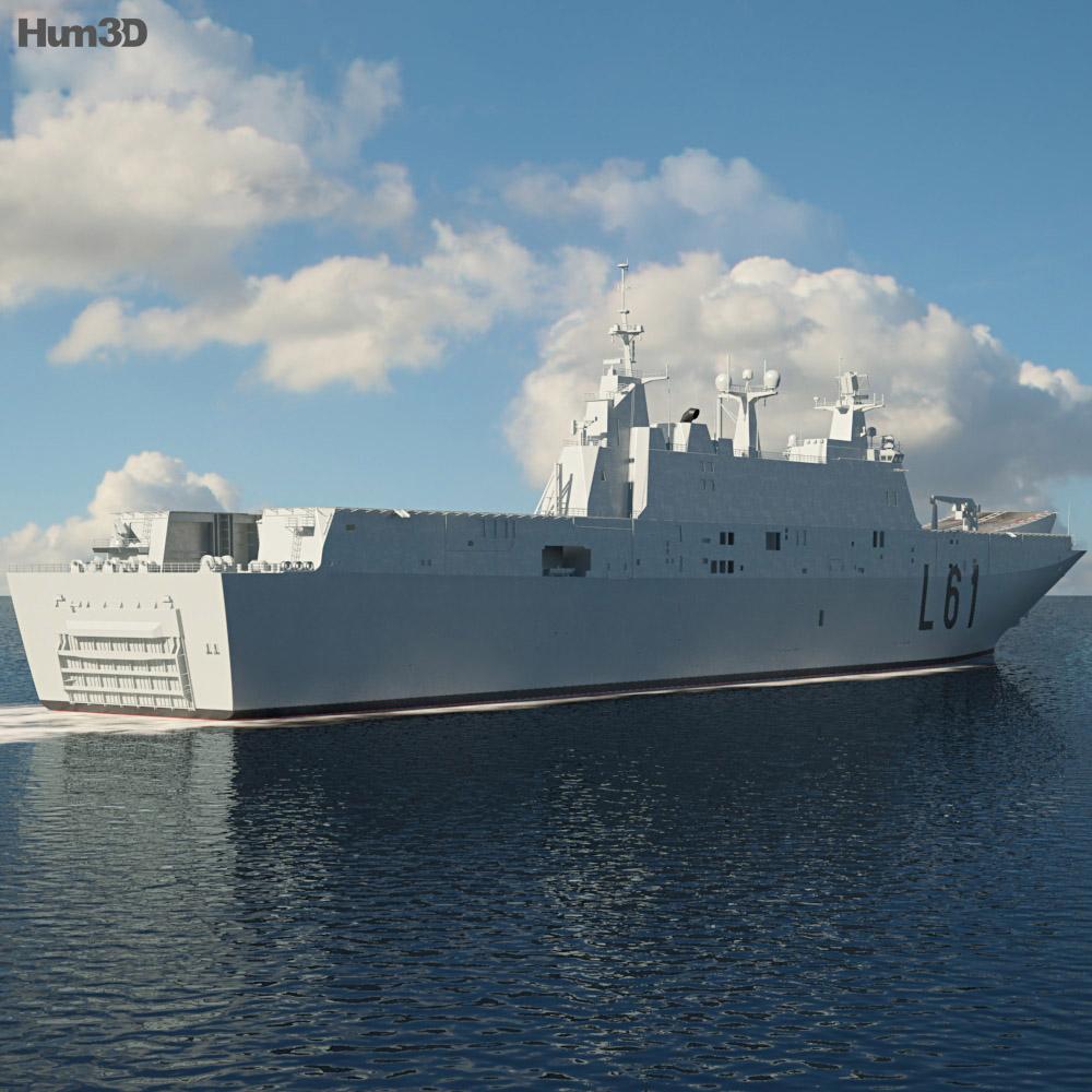 Juan Carlos I aircraft carrier 3d model