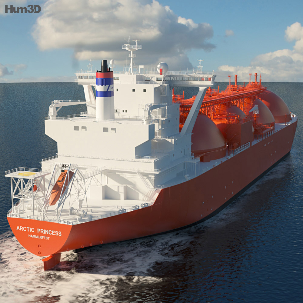 LNG Carrier Arctic Princess 3d model