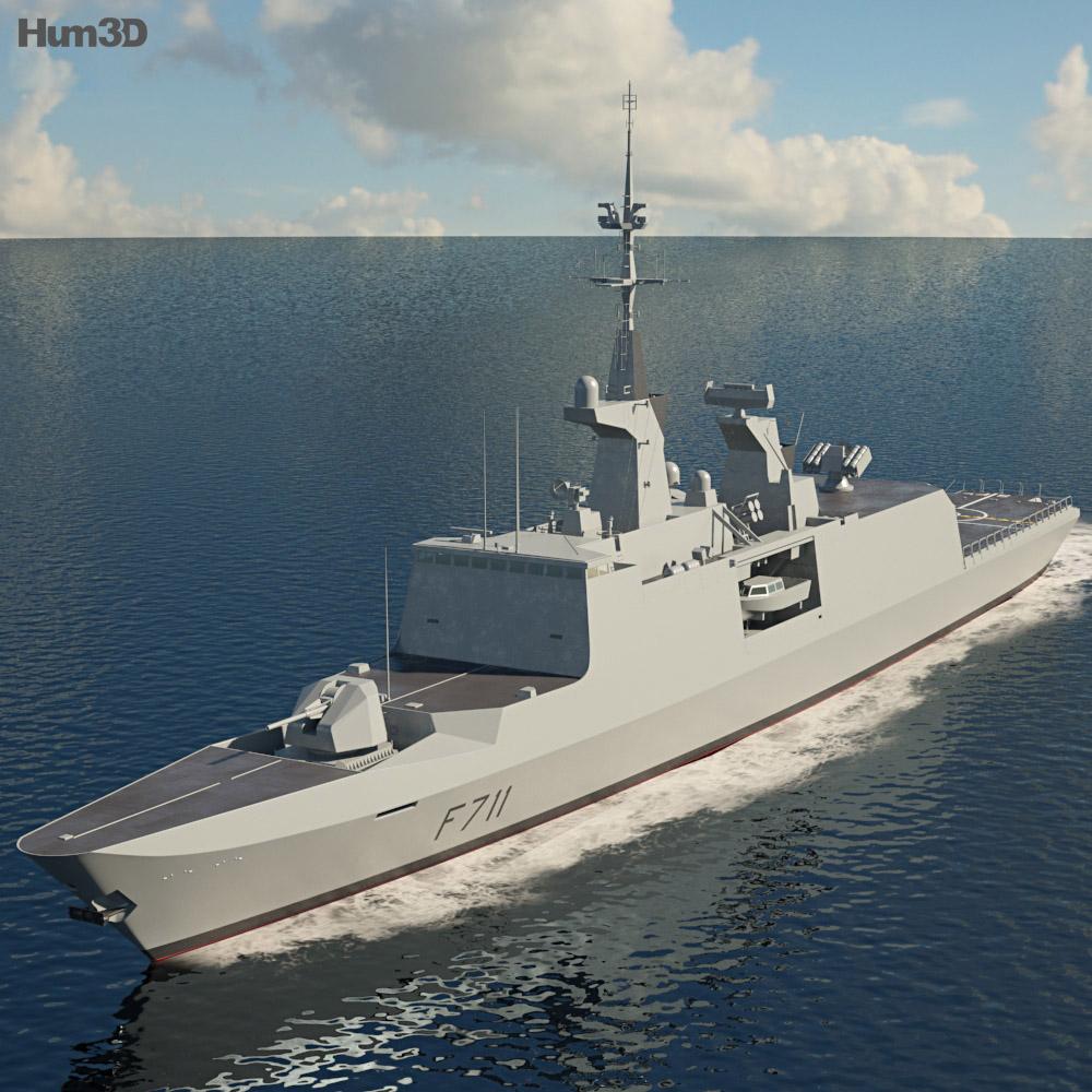 La Fayette class frigate 3d model