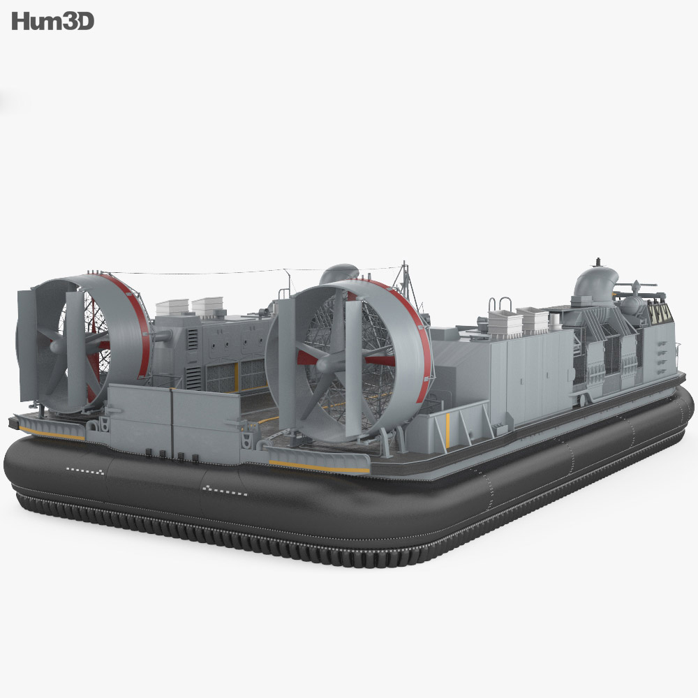 Landing Craft Air Cushion 3d model