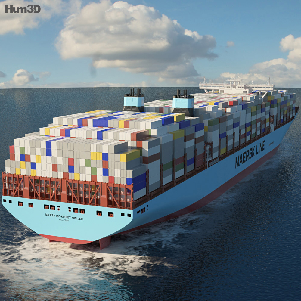 Maersk Triple E-class container ship 3d model