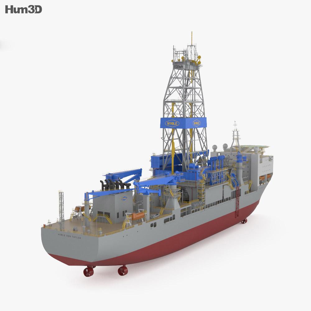 Noble Drillship 3d model