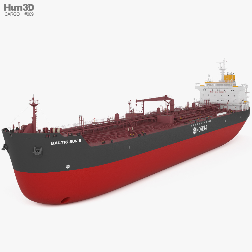 3D model of Oil Chemical Tanker BALTIC SUN II