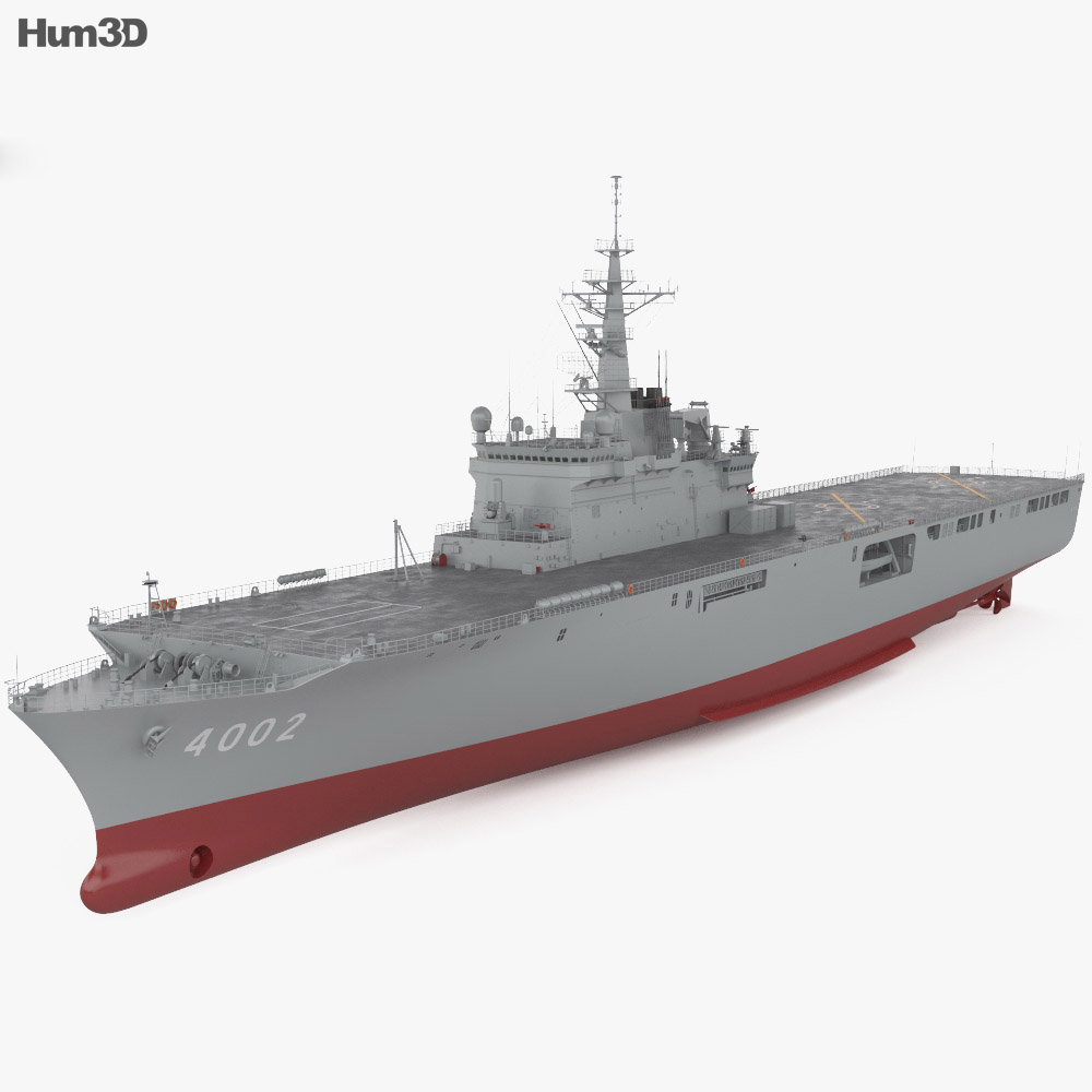 Osumi-class tank landing ship 3d model