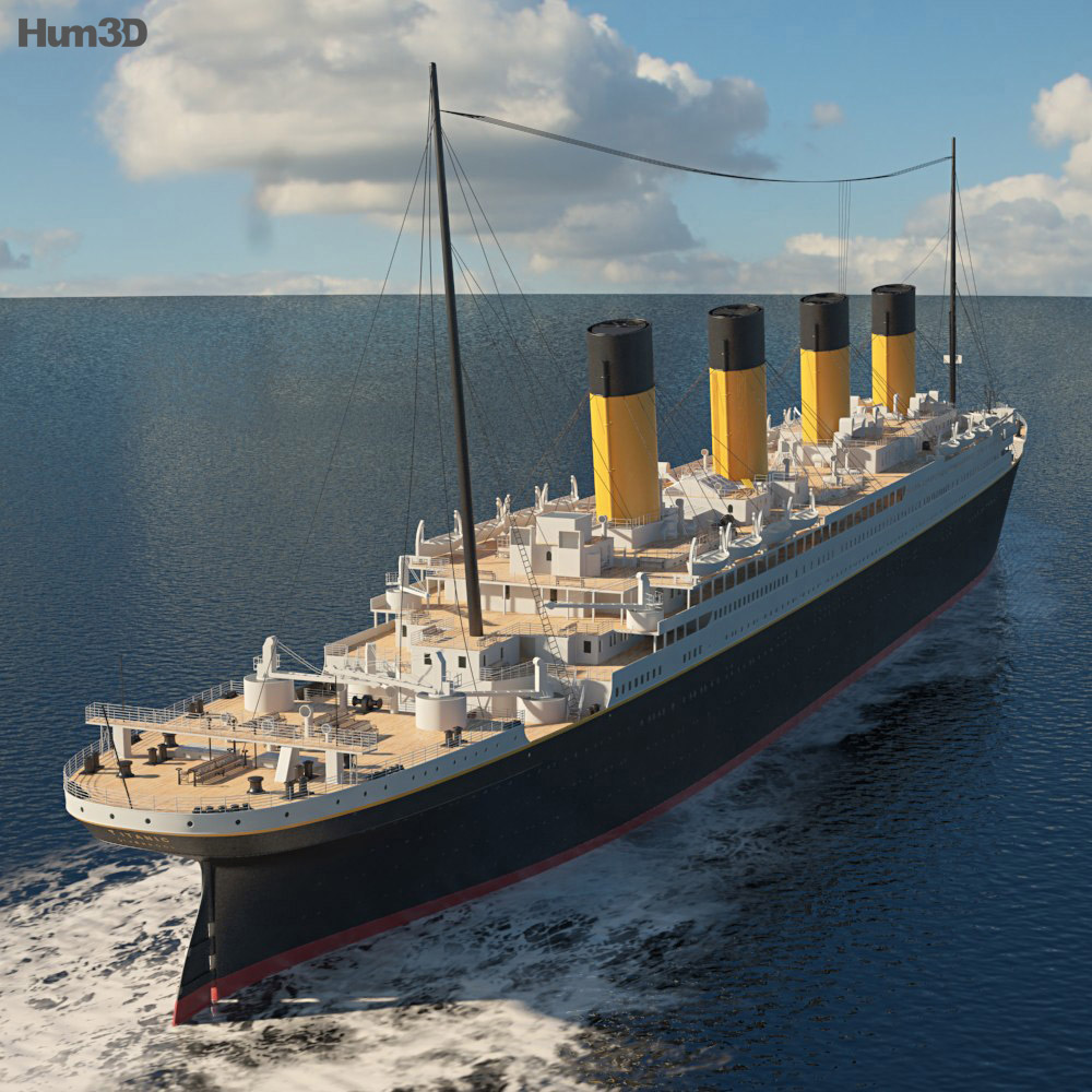 RMS Titanic 3d model