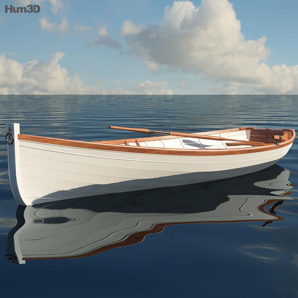 3D model of Rowing Boat