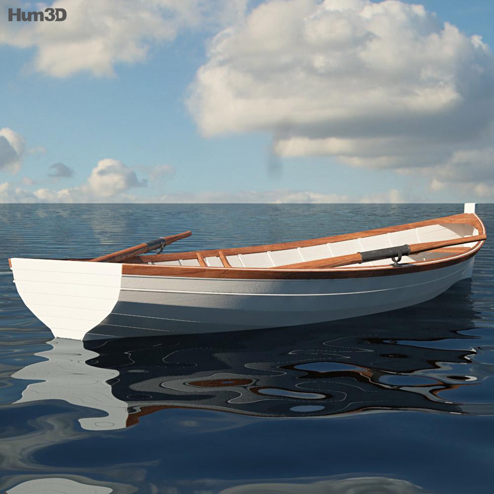 Rowing Boat 3d model