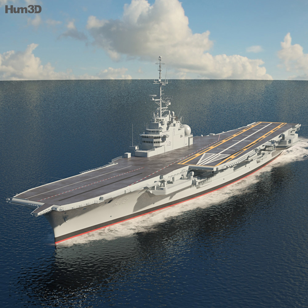 Sao Paulo aircraft carrier 3d model