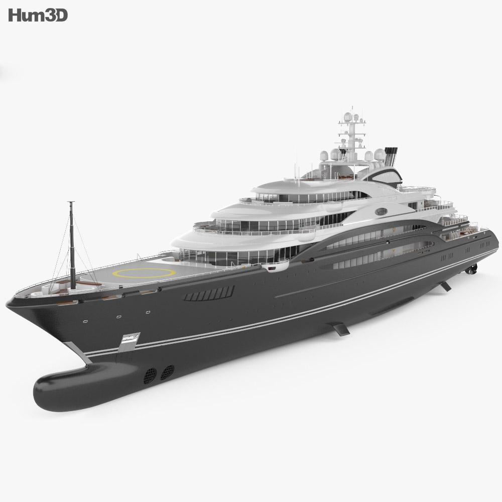 3D model of Serene yacht