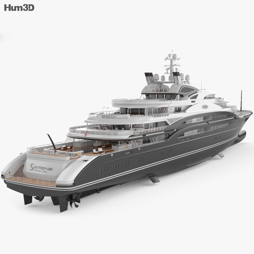 Serene yacht 3d model