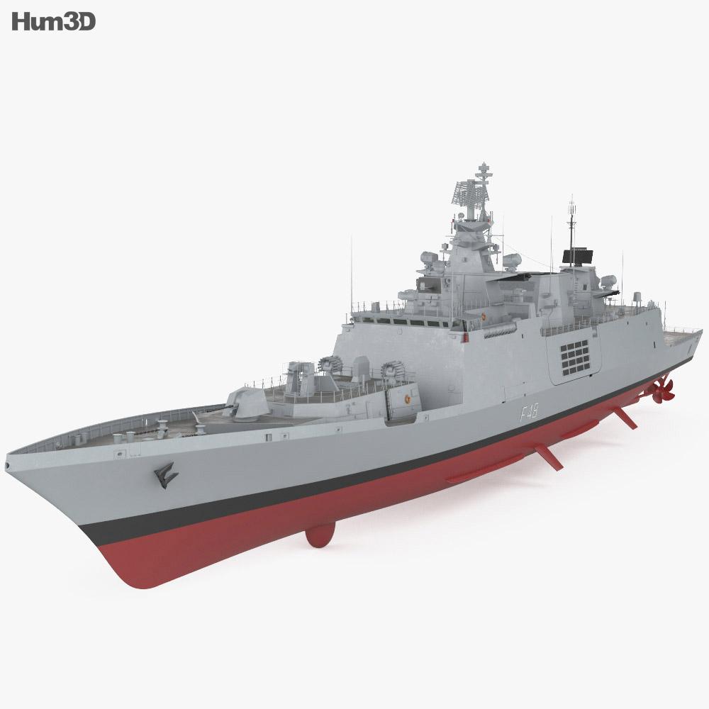 Shivalik-class frigate 3d model