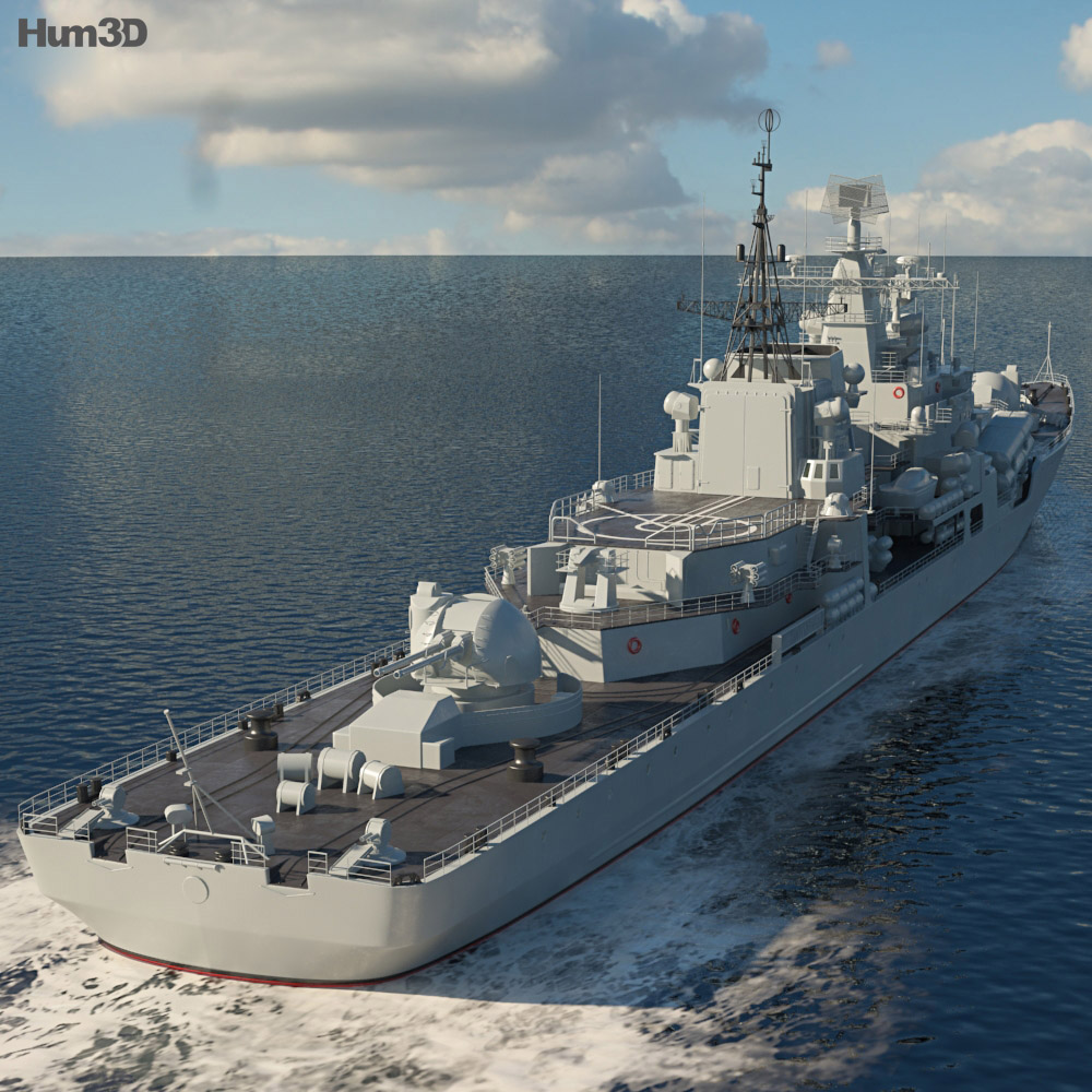 Sovremennyy-class destroyer 3d model