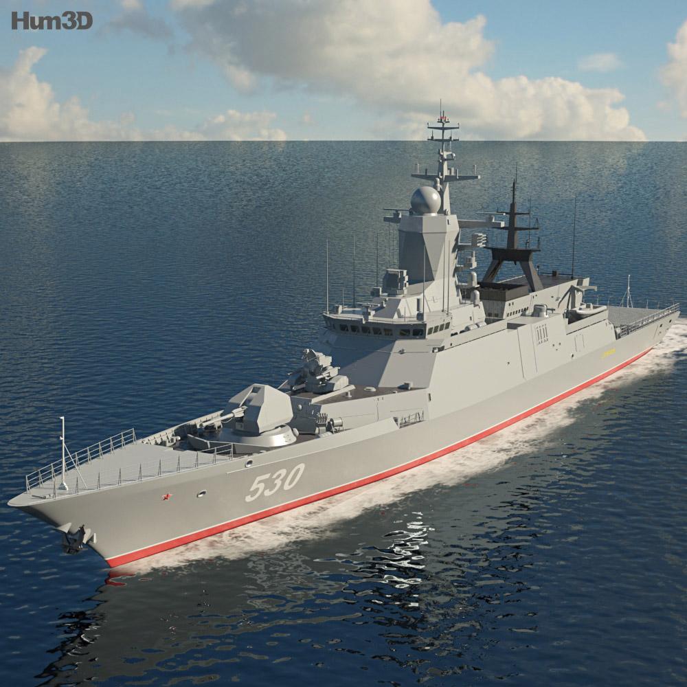 Steregushchy-class corvette 3D model - Ship on Hum3D