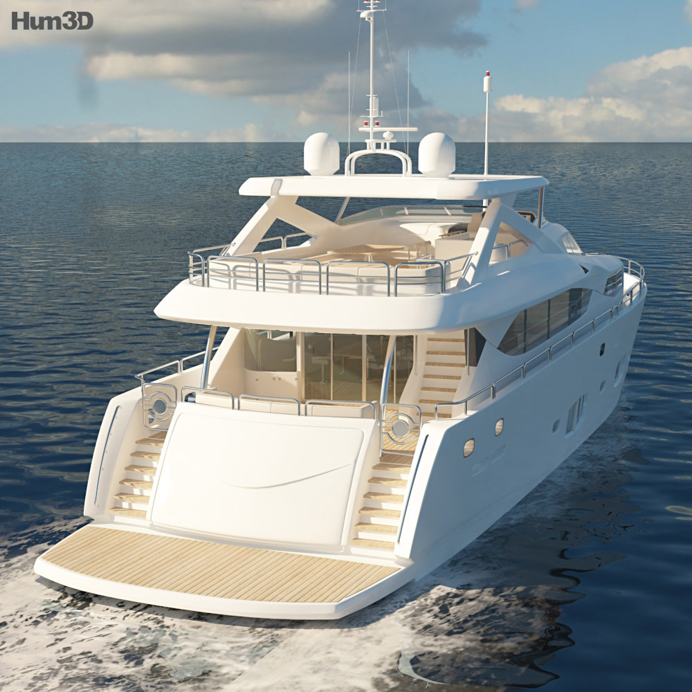 Sunseeker 30m Yacht 3d model