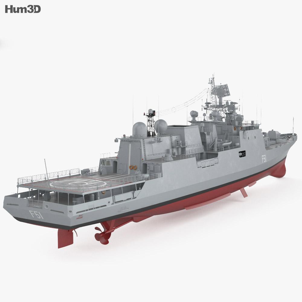 Talwar-class frigate 3d model
